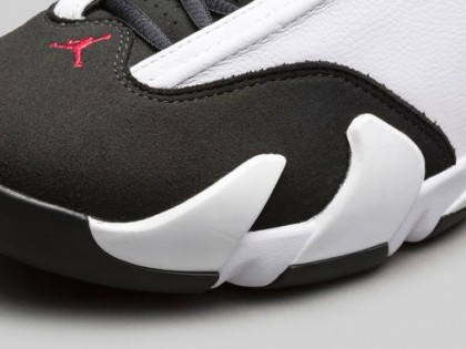 "Fashion| Air Jordan 14 ""Black Toe"" White/Black/Red"